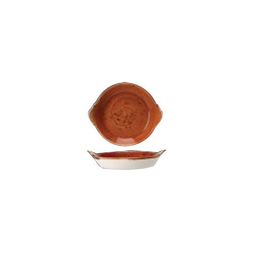 """[스틸라이트 크래프트] Round Eared Dish 8""""양손접시(테라코타)"""