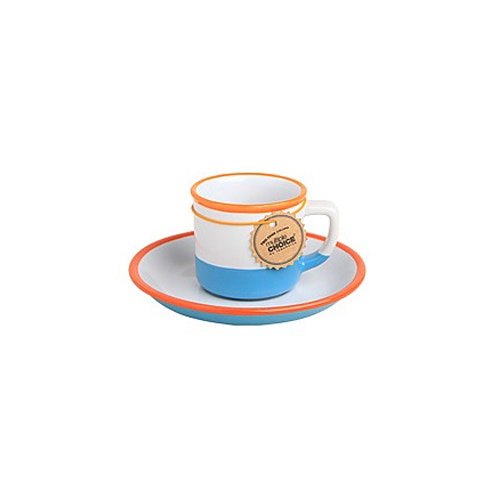 topchoice 탑초이스 에스프레소 컵&받침_Salmon Blue