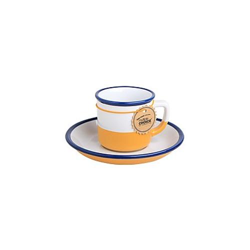 topchoice 탑초이스 에스프레소 컵&받침_Canary Yellow